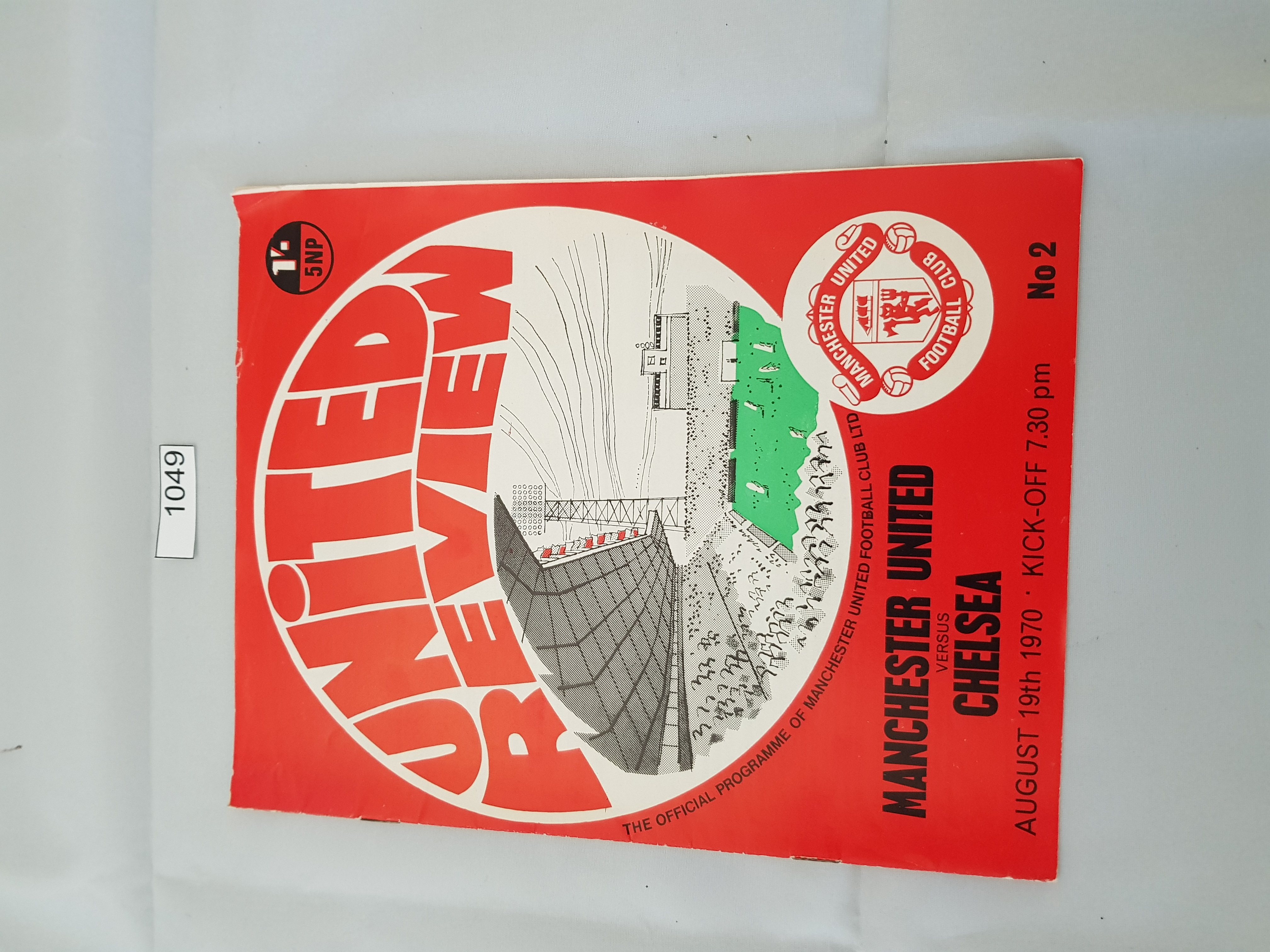 Manchester United v Chelsea 19th August 1970