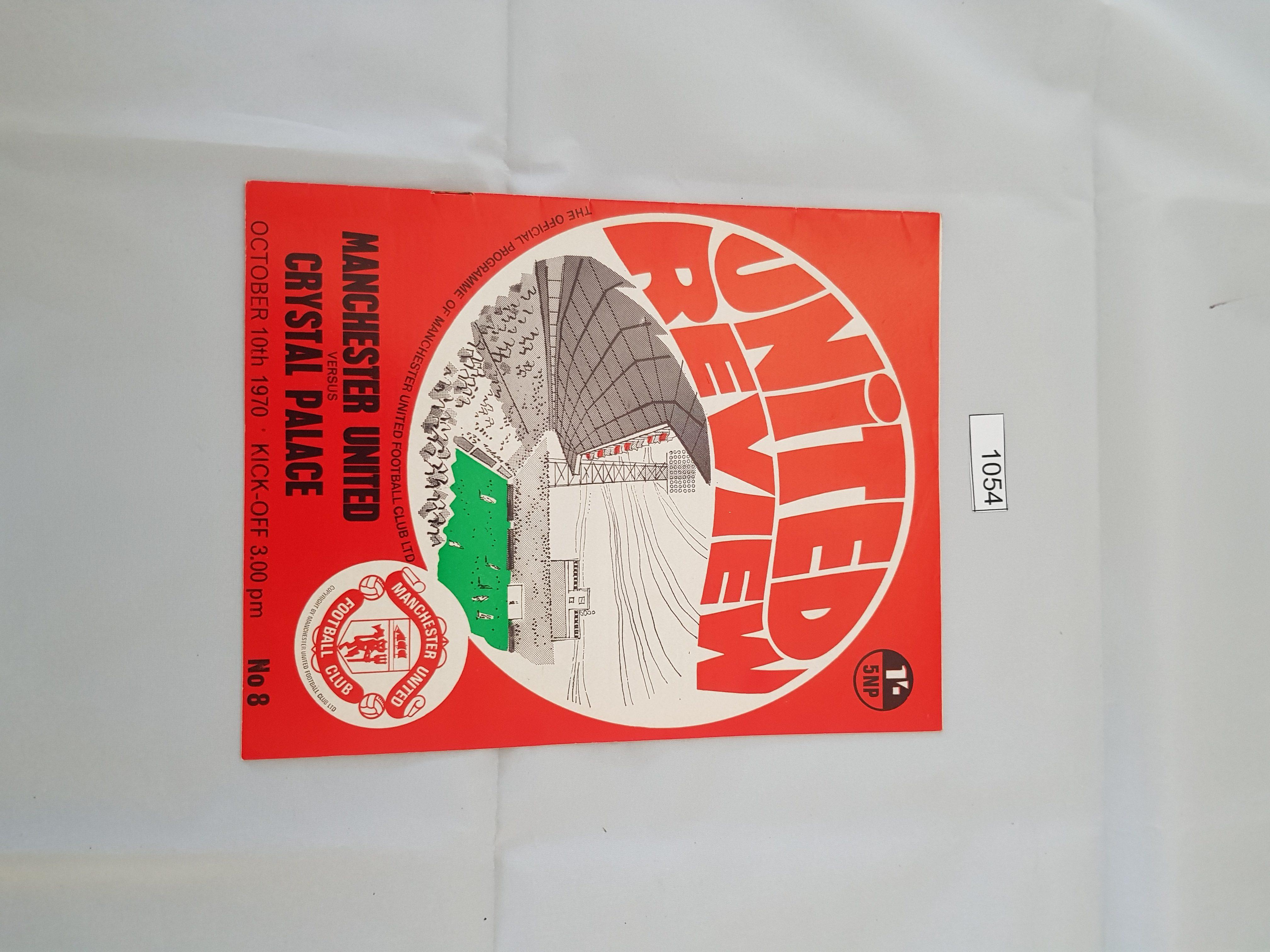 Manchester United v Crystal Palace 10th October 1970