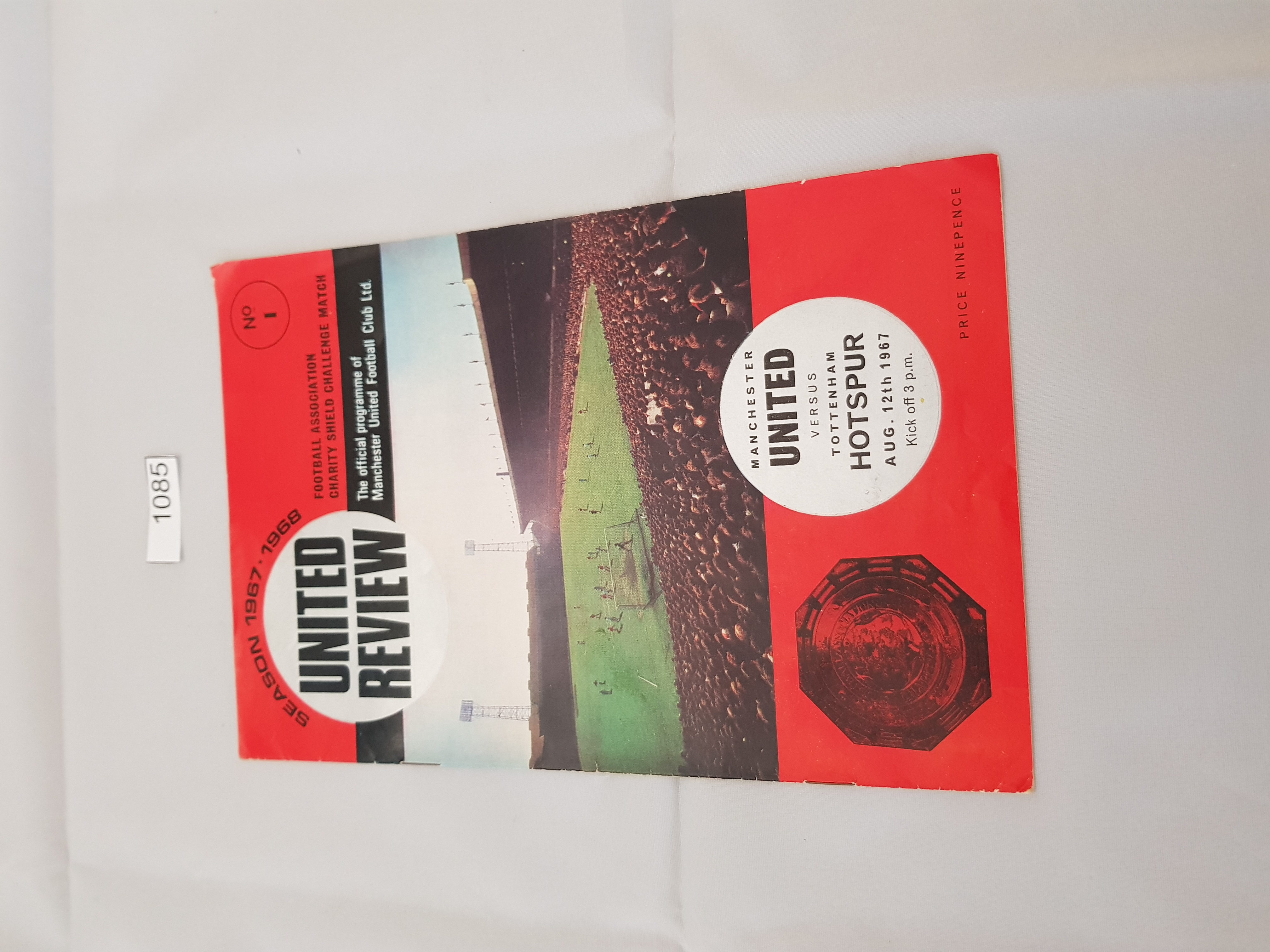 Manchester United v Tottenham Hotspurs 12th August 1967 (FA Charity Shield)