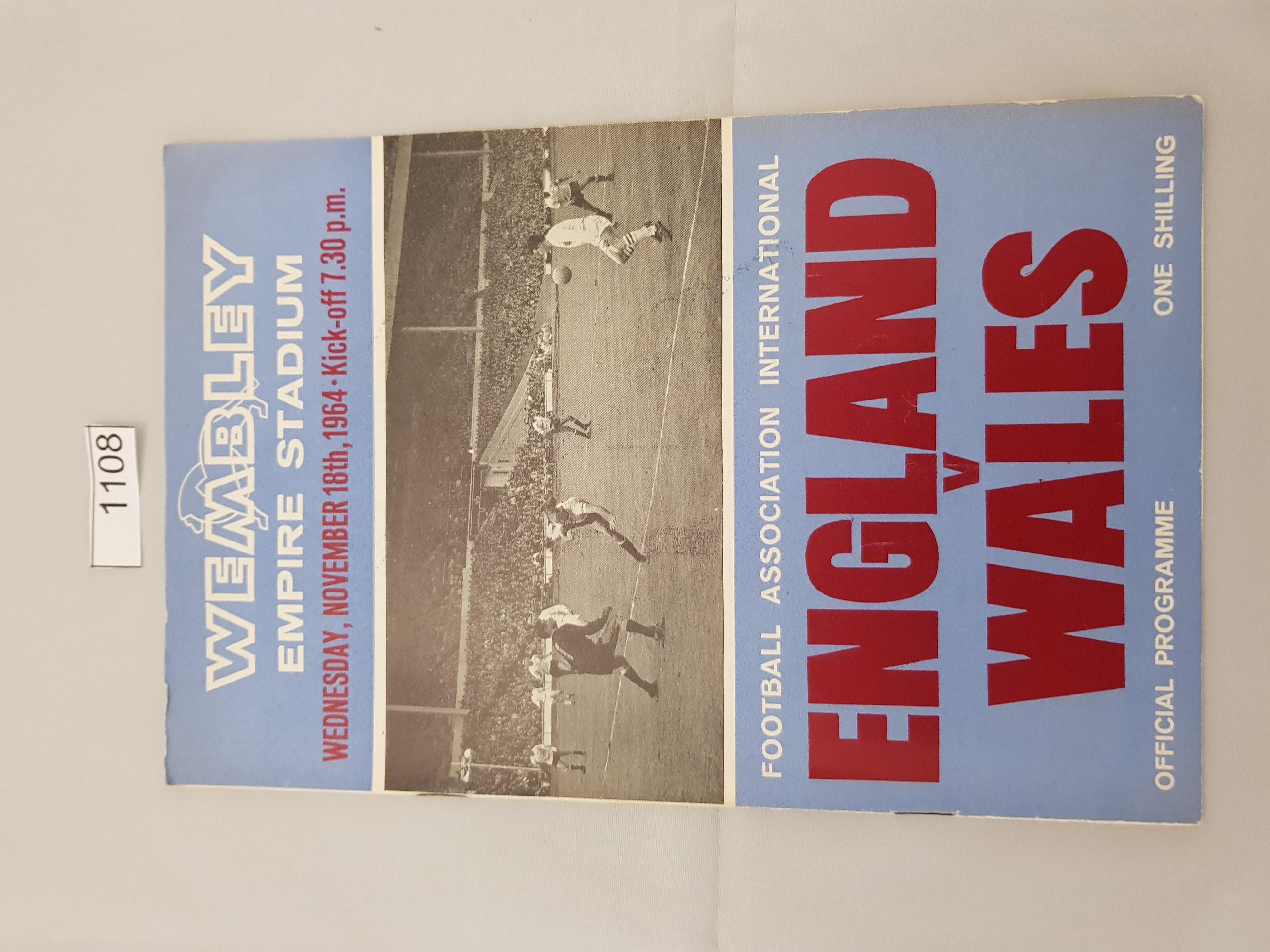 England v Wales 18th November 1964