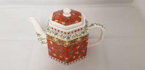 Oriental Style Floral Teapot