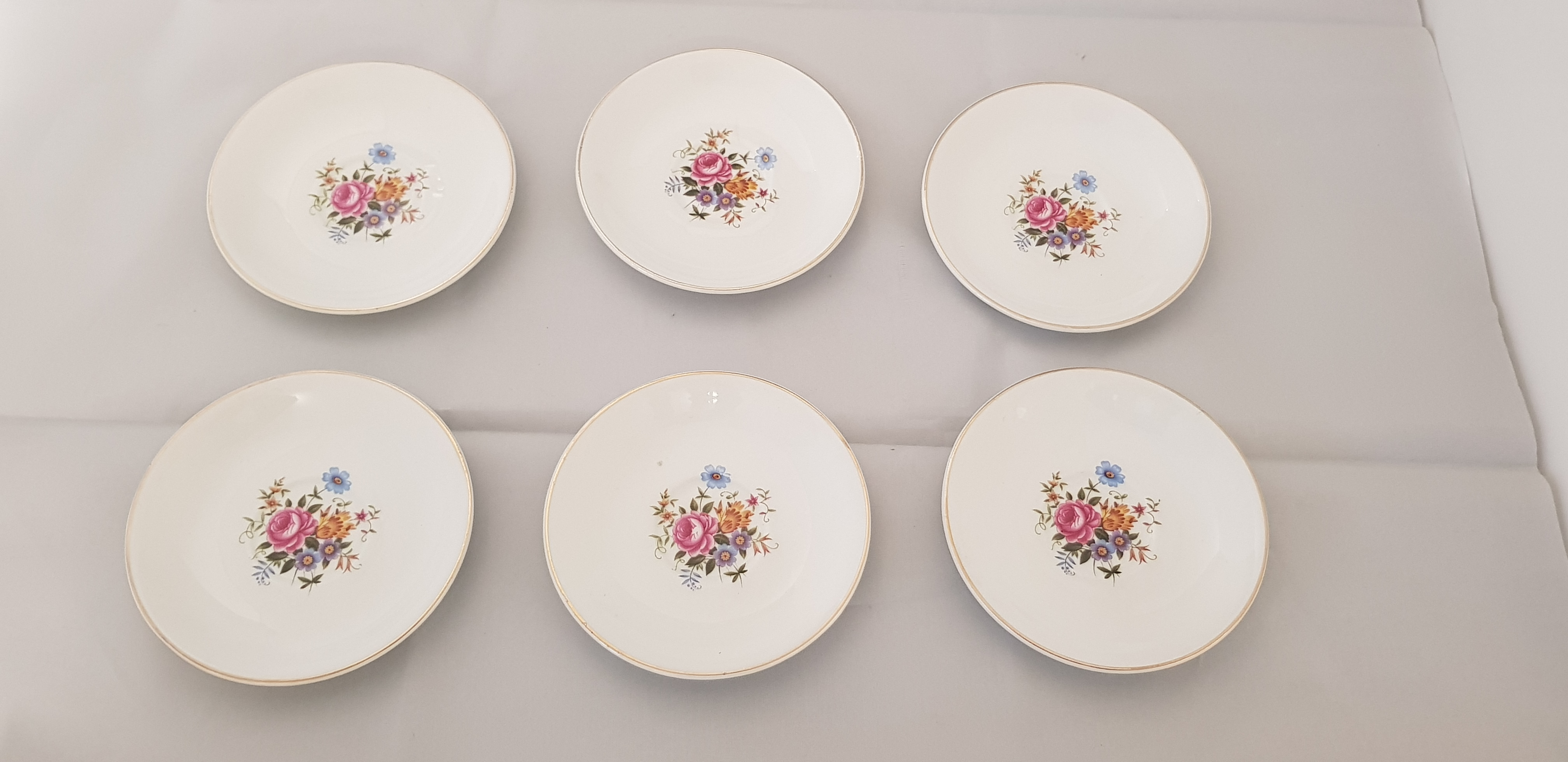 Six (6) Alfred Meakin Small Saucers