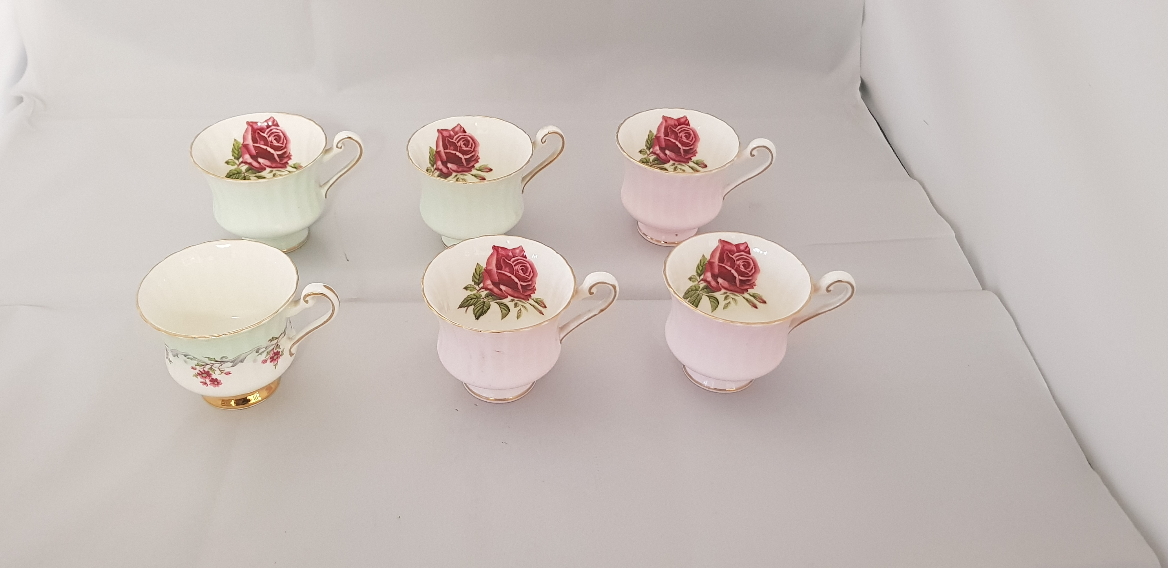 Six (6) Paragon Tea Cups